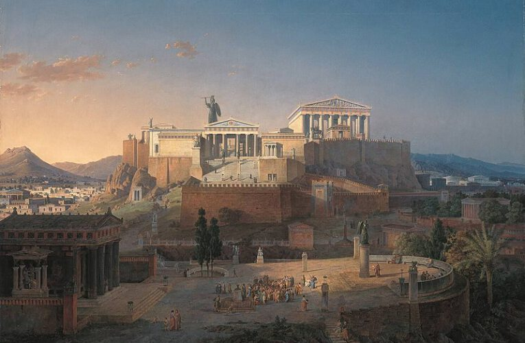 The Parthenon Temple at the Acropolis in Athens