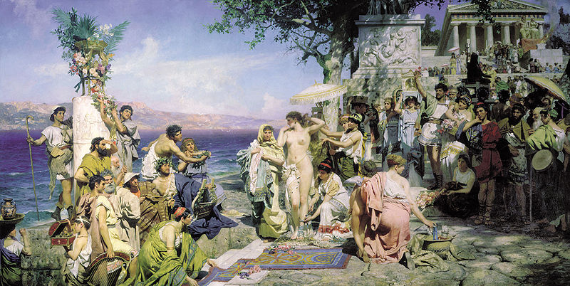 Phryne on the Poseidon's celebration in Eleusis by Henryk Siemiradzki 1889