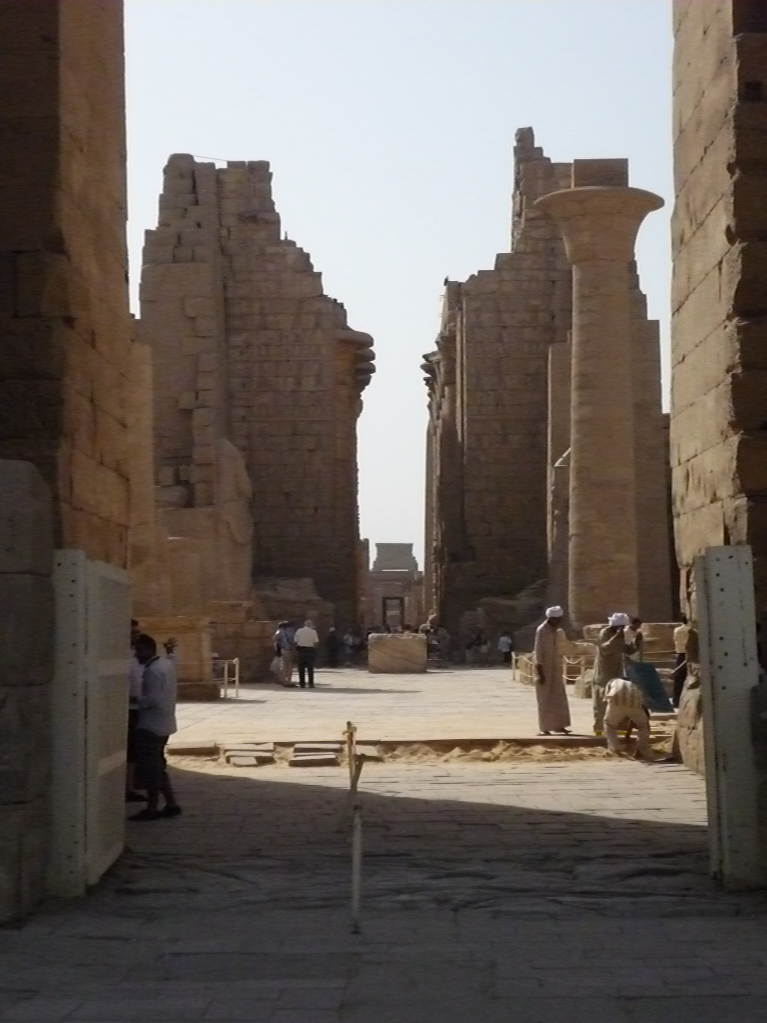 Central axis of the Karnak Temple
