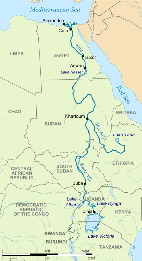 Map of the Nile Valley