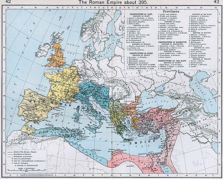 Römisches Reich 395 AD