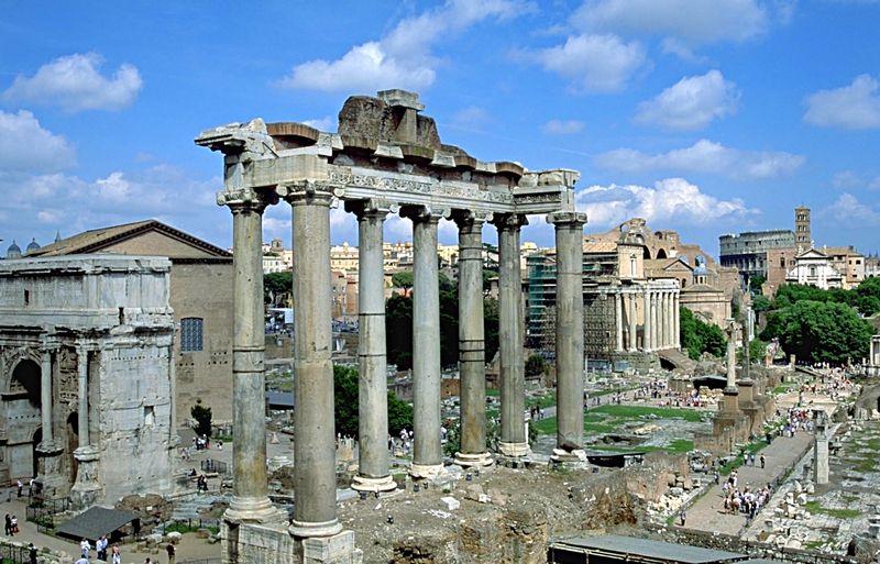 Fische und Steinbock – Kapitolstempel und Forum Romanum in Rom