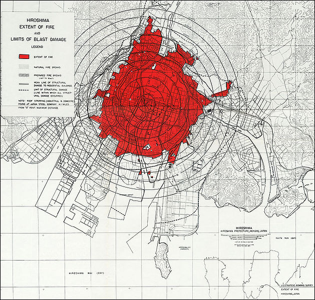 Hiroshima - Extend Of Fire & Limits Of Blast Damage