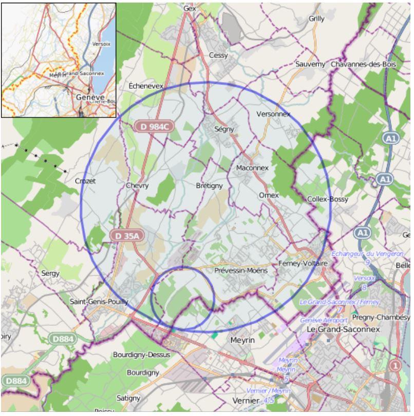 Astrologie und Astrogeographie des CERN Teilchenbeschleunigers
