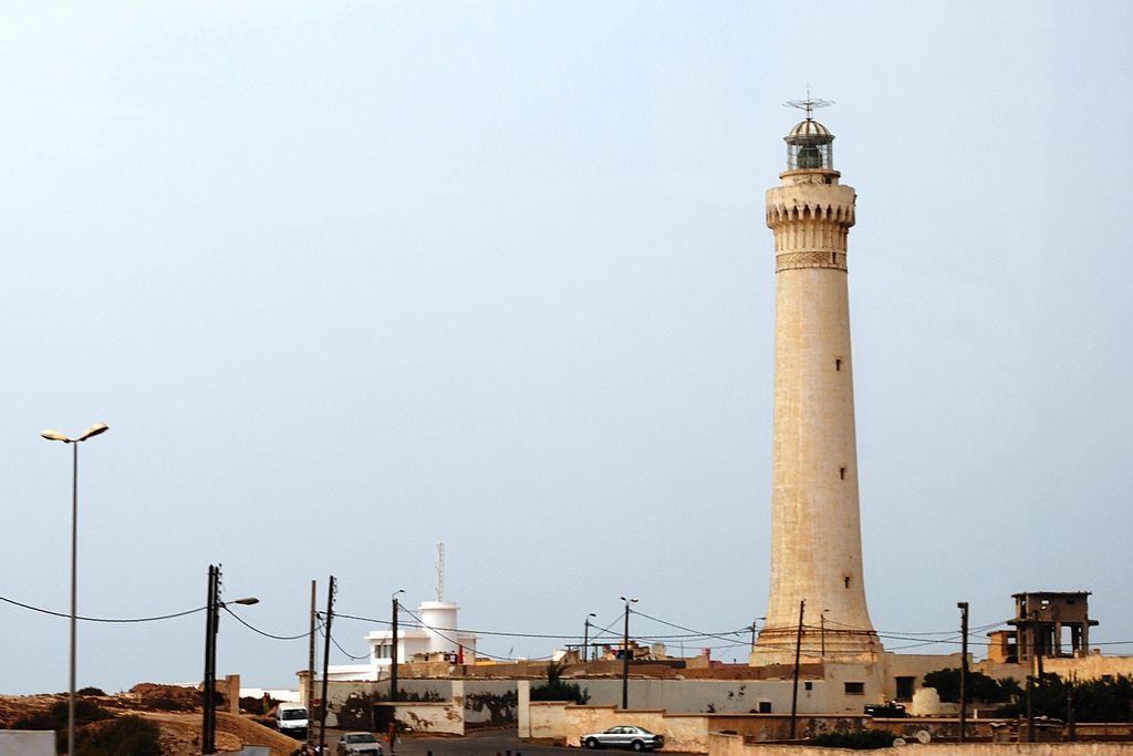 El Hank Lighthouse in Casablanca has both coordinates in Taurus photo: HombreDHojalata; ccbysa3.0