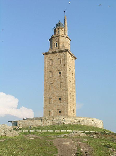 Hercules tower La Coruña, Spain located in Capricorn with Pisces photo: Alessio Damato license: GNU/FDL