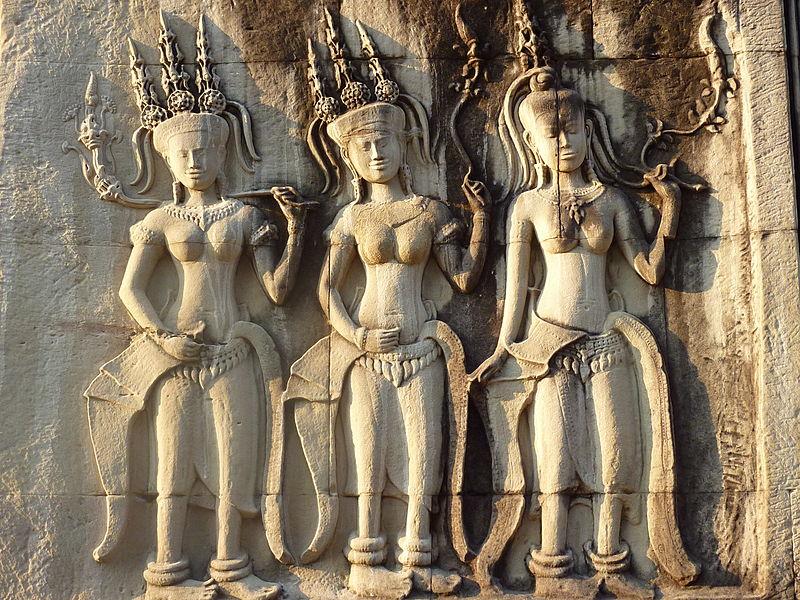 Apsara relief at Angkor Wat at Photo: Dharma, ccbysa2.0