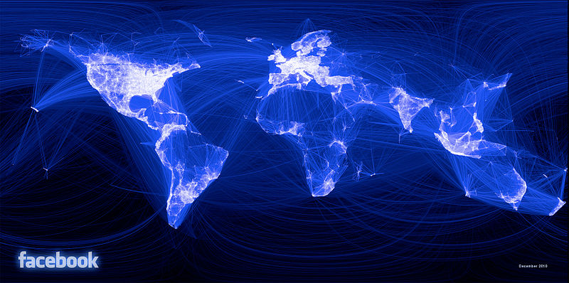 Astrology and astrogeography of facebook