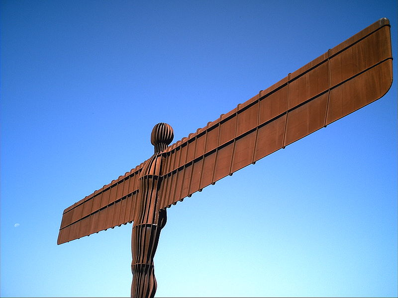 Virgo and Aquarius: The Angel of the North sculpture