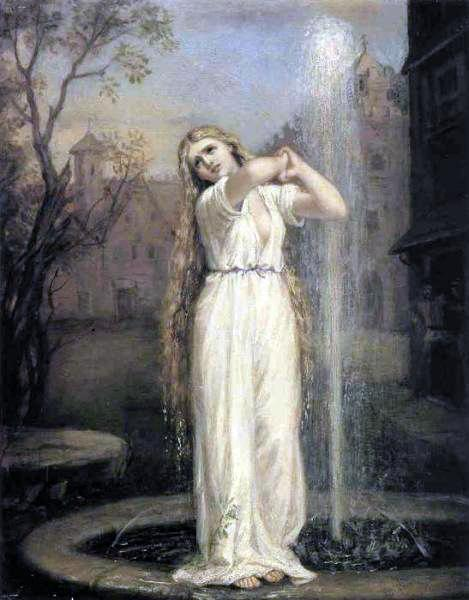 John William Waterhouse - Undine (1872, oil on canvas)