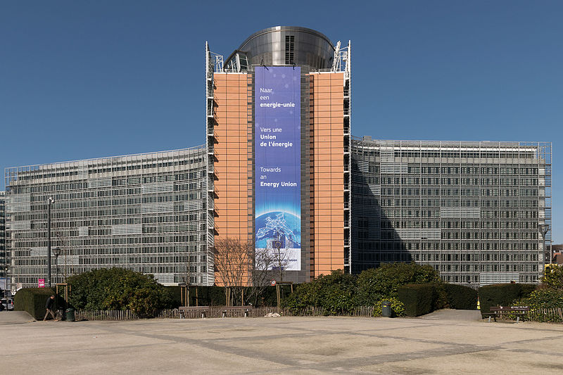 Berlaymont building the seat of the European Commission is located in Aquiarius with Aries photo: Andersen Pecorone, ccbysa2.0