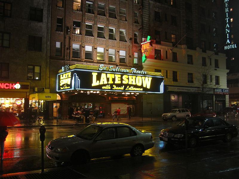 David Letterman und seine Late-Show im Ed Sullivan Theater