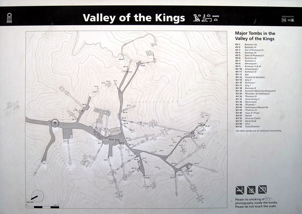 Map of the Valley of the Kings  image: Olaf Tausch,GNU/FDL