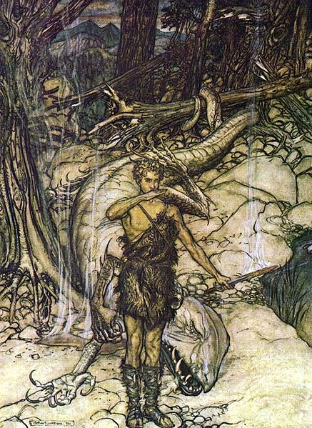 Siegfried trinkt Fafners Blood