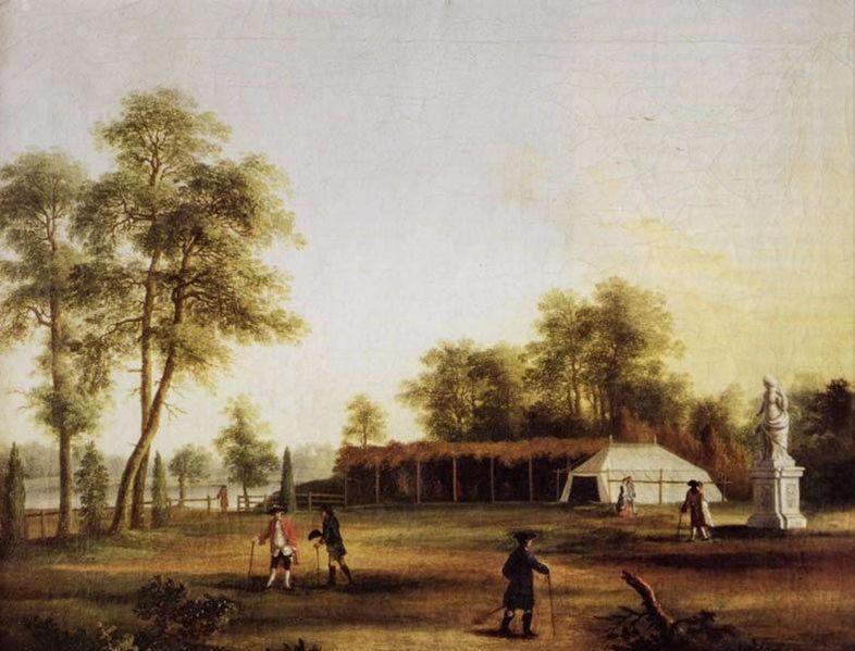Jacob Plillip Hackert 1761  Die Zelte im Tiergarten