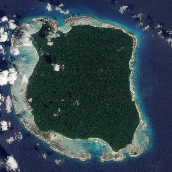 North Sentinel Island    Nasa image 2009  Das isolierte Inselvolk von North Sentinel Island