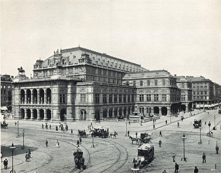 Vienna State Opera Opernhäuser und Fische als das Zeichen der Musik