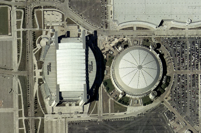 Reliant Astrodome - on the right (nasa world wind 1.3.5)