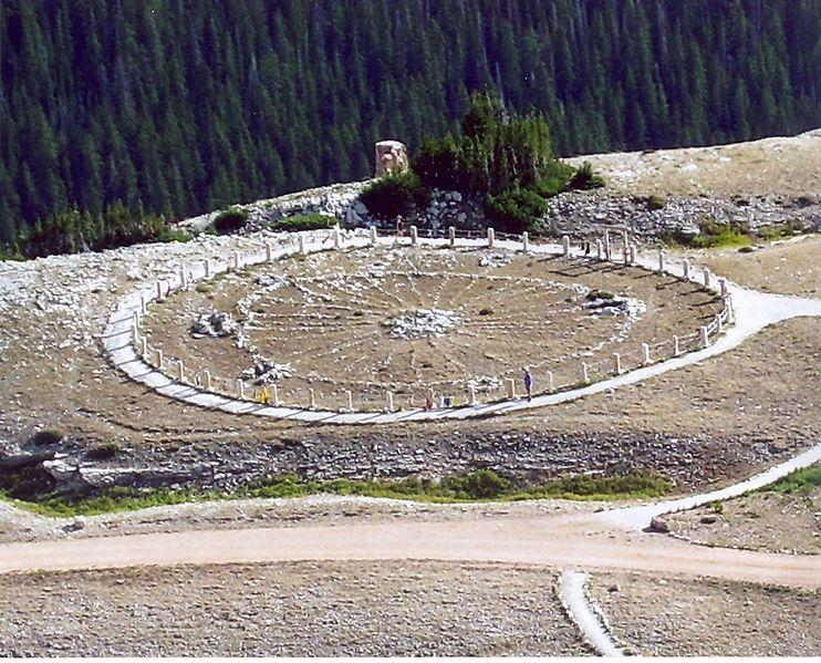 Das Medizinrad von Bighorn in Steinbock und Widder