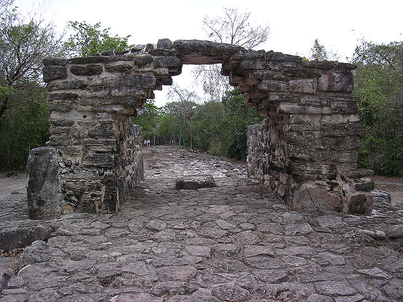 Archway leading to ruins within San Gervasio
