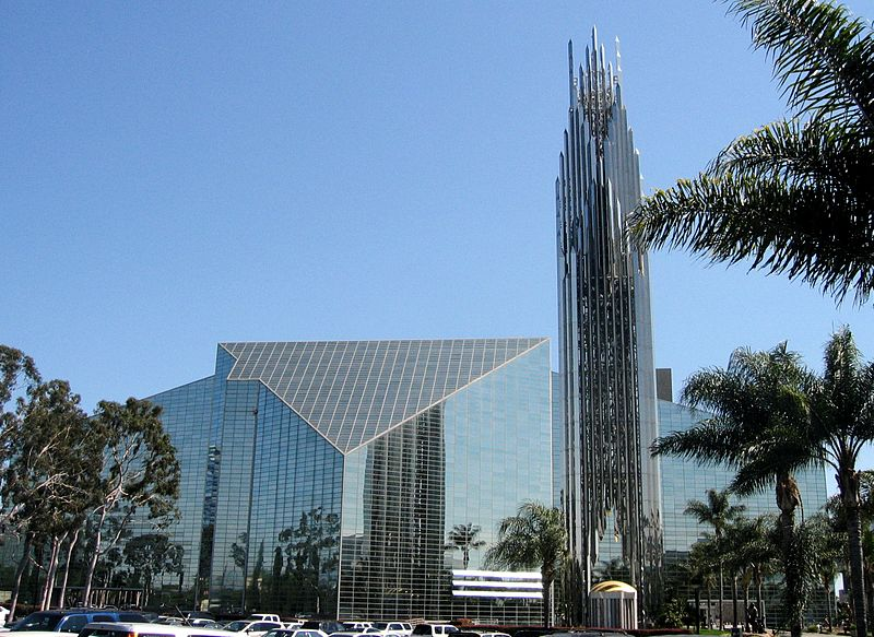 photo: Arnold C (Buchanan-Hermit) Crystal Cathedral the Spire on the rigjht is located in the last degrees of Scorpio