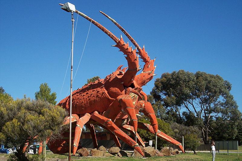 Die Big Lobster Skulptur im Stier dem Zeichen des Essens