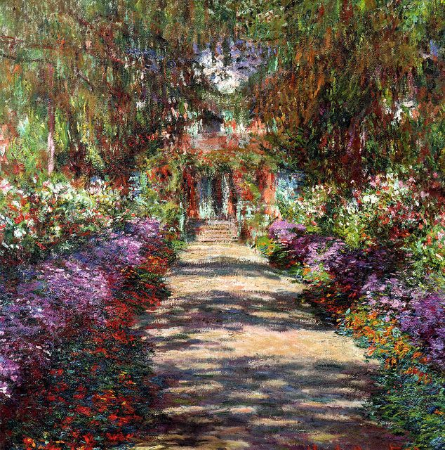 Claude Monet - Garden in Giverny at Belvedere Museum Vienna Austria