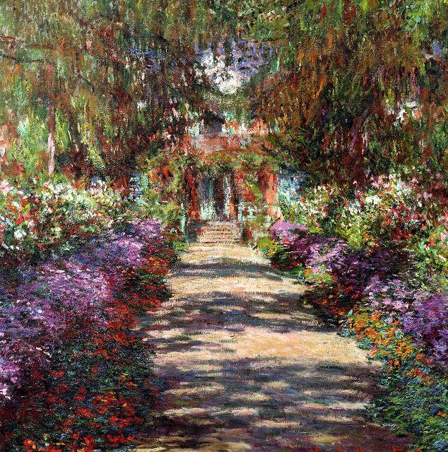 Claude Monet`s Garden in astrology