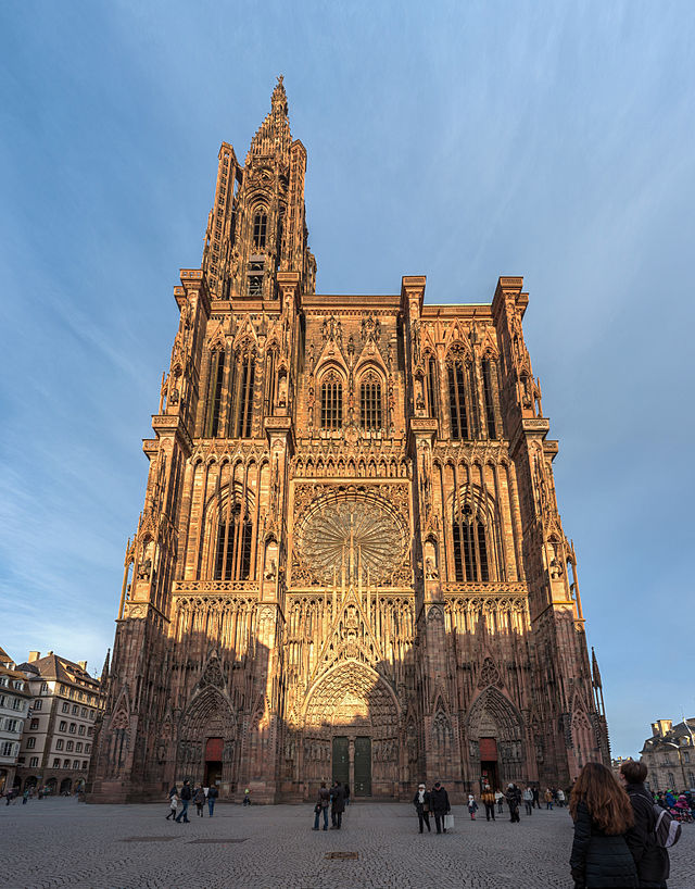 Strassbourg Cathedral in Photo by DAVID ILIFF. License: CC-BY-SA 3.0