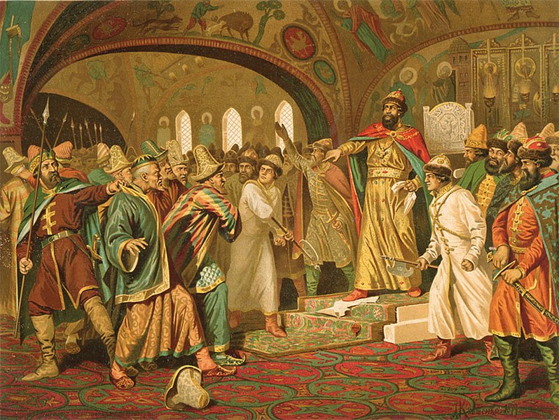 Ivan the Great tearing the khan's letter to pieces