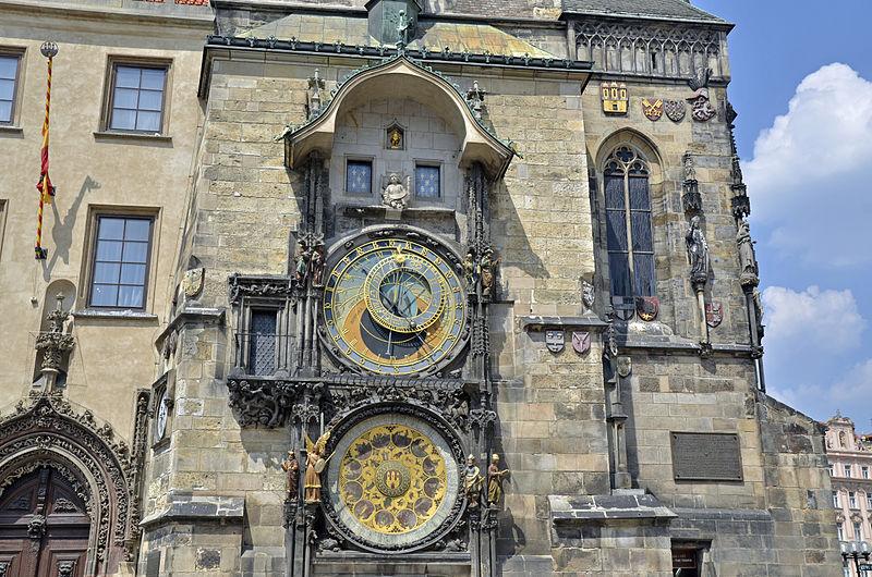 Astronomical Clocktower in Prague Between Scorpio & Sagittarius 2nd coordinate in Pisces. Pisces. Photo: Guido Radig License: ccbysa3.0
