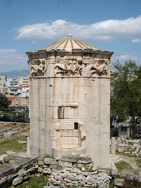 Tower of the Winds 50 BC clocktower in Athens Photo: Joanbanjo License: ccbysa3.0
