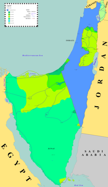 Israeli gains in the 6-Day-War