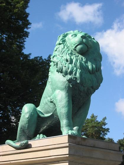 Copy of the Flensburg Lion at Wannsee located at 0° Leo and in the middle of Scorpio photo: Lienhard Schulz, GNU/FDL