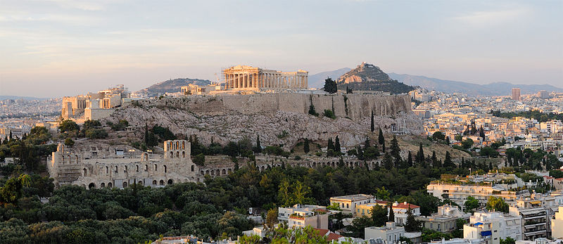 The Acropolis former city fortess mount in Athens  photo: Christophe Meneboeuf license: