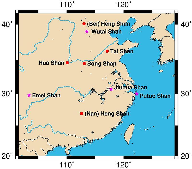 Sacred Mountains of China  image: Pufacz, GNU/FDL