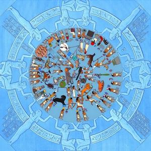 Dendera Zodiac with original colours image: Alice-astro, ccbysa3.0