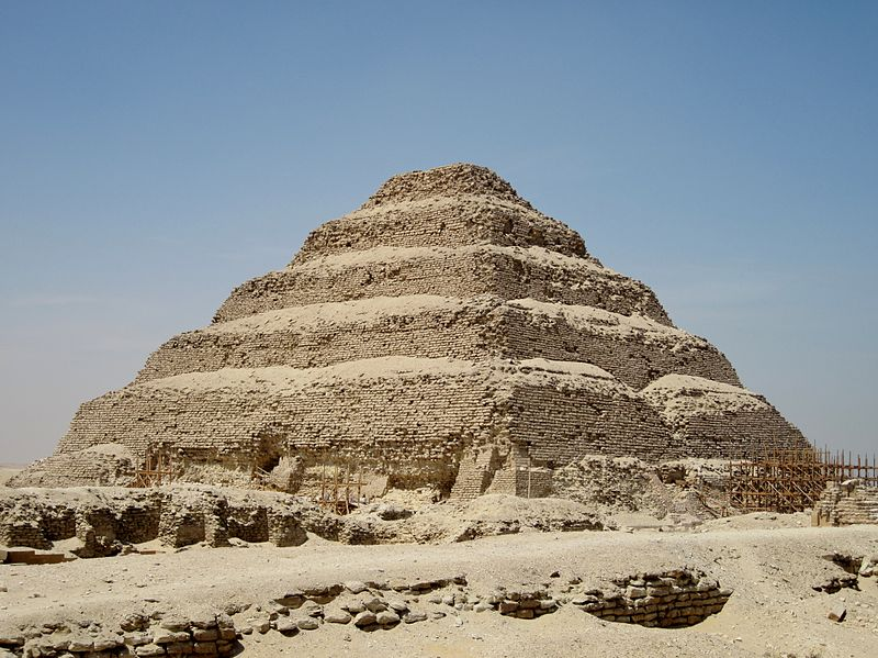 Pyramid of Djoser built around 2650 BC is the oldest edyptian pyramid, LLocation: between Capricorn and Aquarius and in Taurus photo: Olaf Tausch,ccbysa3.0