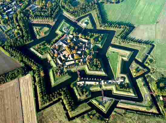 Fort Bourtange located in two Venus signs Libar and Taurus