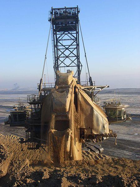 Bagger in Garzweiler Strip Mine, Germany located in Scorpio with Taurus  photo: Bodoklecksel, GNU/FDL
