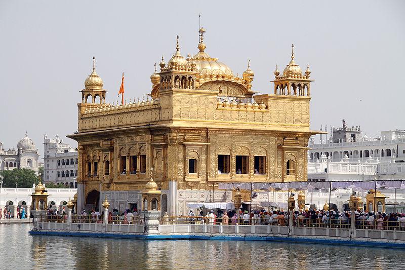 Hamandir Sahib the Golden temple in Amritsar located in Virgo with Leo