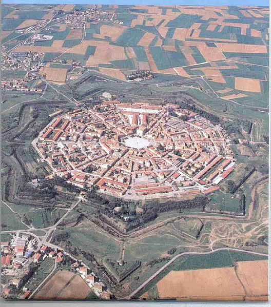 Palmanova planned city in the shape of a star fortress Palmanova star fortress   photo: IlirikIlirik, ccbysa1.0