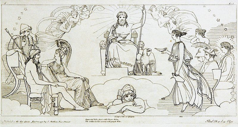 Zeus on his throne by Tommaso Piroli, 1795