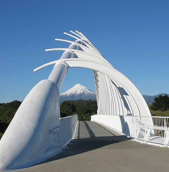 Te Rewa Rewa Bridge located in Sagittarius with Capricorn, ccbysa2.0