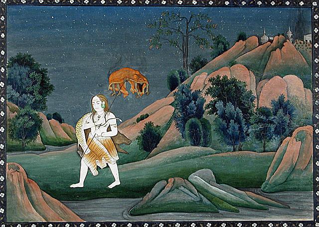 Shiva Carrying Sati on His Trident, circa 1800
