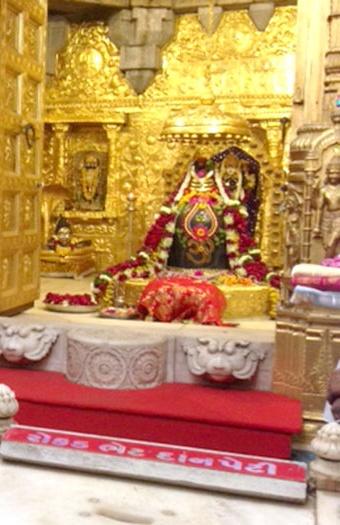 Sanctum Sanctorum of Somnath photo: Narendra Modi,