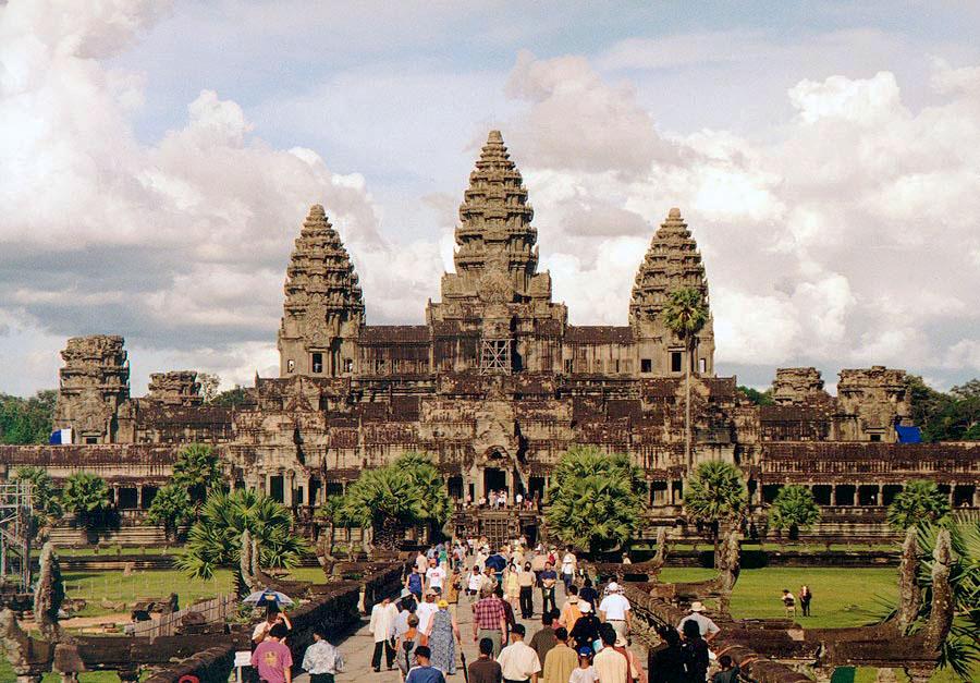 Der Tempel von Angkor Wat in Waage mit Zwillinge photo: Tsui, GNU/FDL