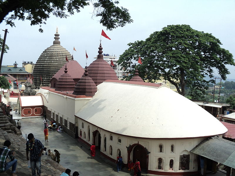 Kamakhya Temple Guwahati located in Cancer with Scorpio - only a small part of the west photo: Kunal Dalui, ccbysa3.0
