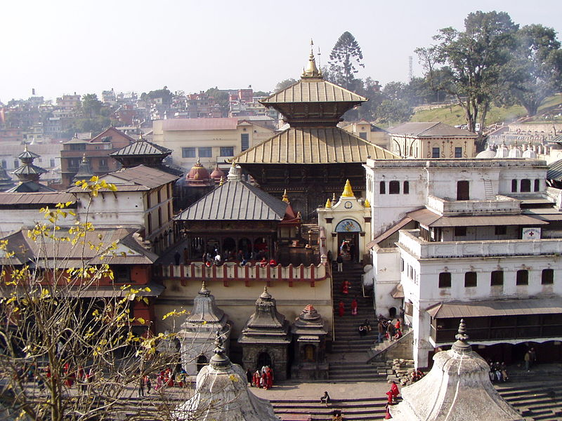 View of the central Temple at Pashupatinath Photo: Seeteufel, GNU/FDL