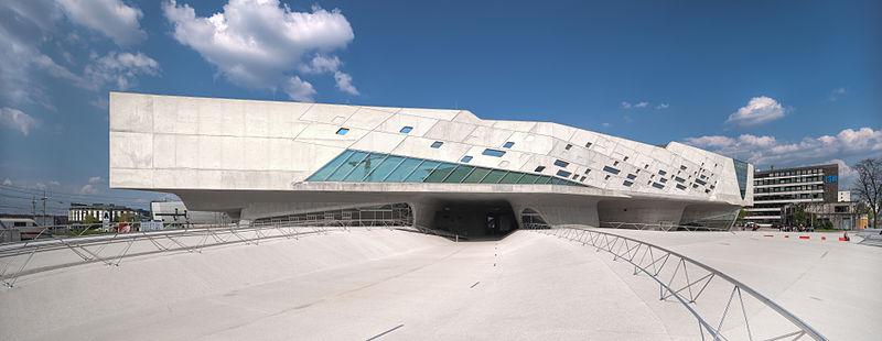 Phaeno Science Center Wolfsburg located in Gemini and between Libra & Scorpio photo: Richard Bartz, ccbysa2.0